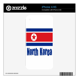 North Korea Decal For iPhone 4S