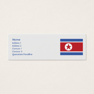 North Korea - Skinny Mini Business Card