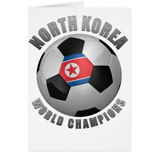 NORTH KOREA SOCCER CHAMPIONS GREETING CARD