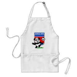 Apron with North Korea Football Panda design