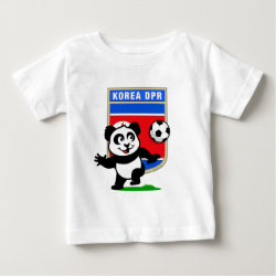 Baby Fine Jersey T-Shirt with North Korea Football Panda design