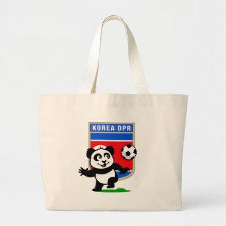 North Korea Soccer Panda Jumbo Tote Bag