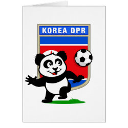Greeting Card with North Korea Football Panda design