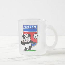 Frosted Glass Mug with North Korea Football Panda design