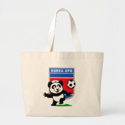Jumbo Tote Bag with North Korea Football Panda design