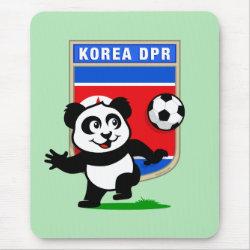 Mousepad with North Korea Football Panda design