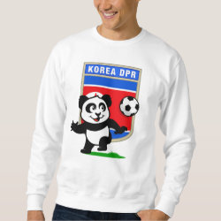 Men's Basic Sweatshirt with North Korea Football Panda design
