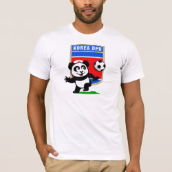 Men's Basic American Apparel T-Shirt with North Korea Football Panda design