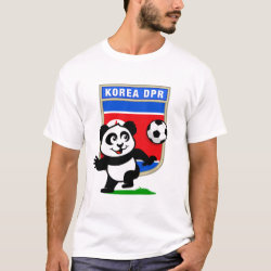 Men's Basic T-Shirt with North Korea Football Panda design