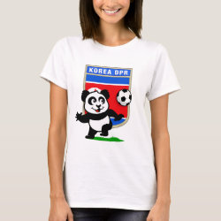 Women's Basic T-Shirt with North Korea Football Panda design