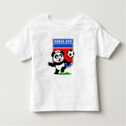 Toddler Fine Jersey T-Shirt with North Korea Football Panda design