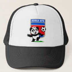Trucker Hat with North Korea Football Panda design