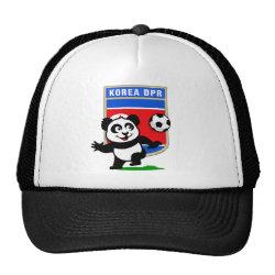 Trucker Hat with North Korea Football Panda design