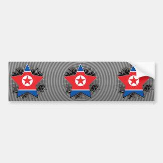 North Korea Star Bumper Stickers