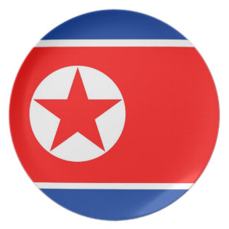 north korea star country flag plate