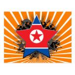 North Korea Star Postcard