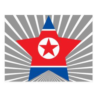 North+Korea Star Postcards