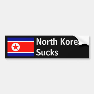 North Korea Sucks Bumper Sticker