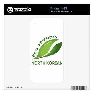 North Korean amistoso de Eco. Skin Para El iPhone 4S