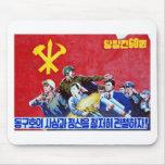 North Korean Communist Party Poster Mousepad