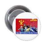 North Korean Communist Party Poster Pinback Button