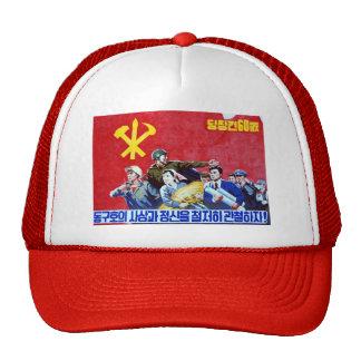 North Korean Communist Party Poster Trucker Hat