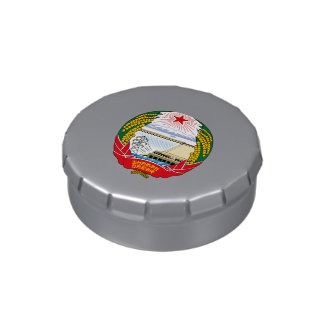 North Korean emblem Jelly Belly Candy Tin
