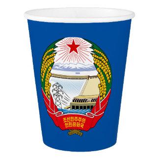North Korean emblem paper cup
