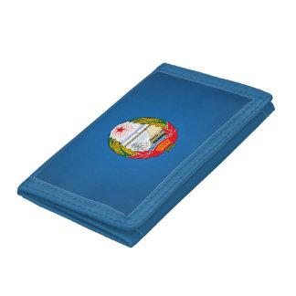 North Korean emblem Trifold Wallet