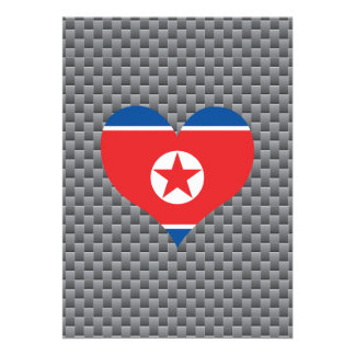 "North Korean Flag on a cloudy background 5"" X 7"" Invitation Card"