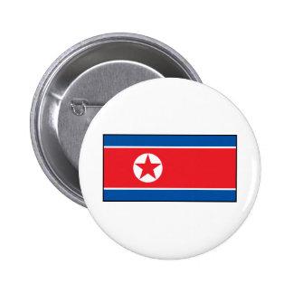 North Korean Flag Pinback Button