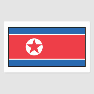 North Korean Flag Rectangle Sticker