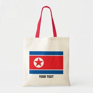 North Korean flag Tote Bag
