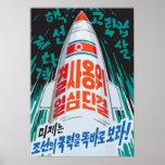 North Korean Missile Poster