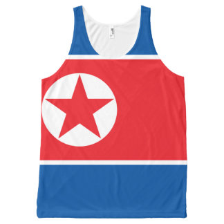 North Korean National flag Shirt All-Over Print Tank Top