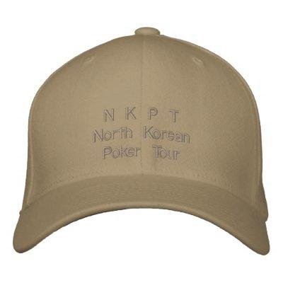 North Korean Poker Tour Cap Embroidered Baseball Cap