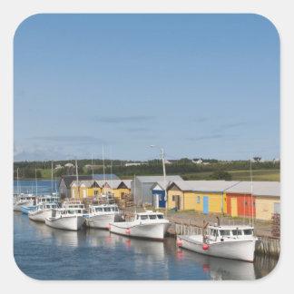 North Lake Harbour, Prince Edward Island. Square Sticker
