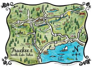 Lake Tahoe Map Gifts on Zazzle