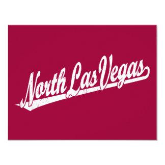 North Las Vegas script logo in white distressed Card