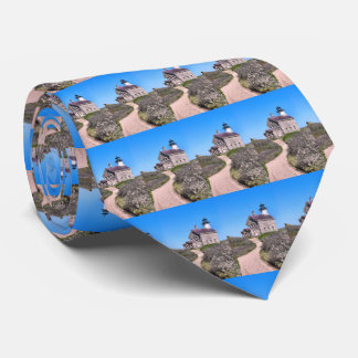 North Lighthouse, Block Island RI Mens Tie