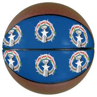 North Mariana Islands Flag Basketball