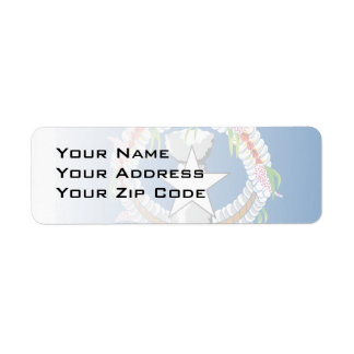North Mariana Islands Return Address Label