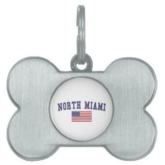 North Miami US Flag Pet Tag