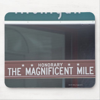 'North Michigan Avenue and The Magnificent Mile Mouse Pad