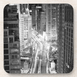 North Michigan Avenue in Chicago after winter Drink Coaster