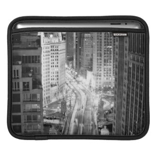 North Michigan Avenue in Chicago after winter iPad Sleeve