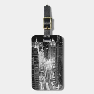 North Michigan Avenue in Chicago after winter Luggage Tag