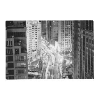 North Michigan Avenue in Chicago after winter Laminated Place Mat