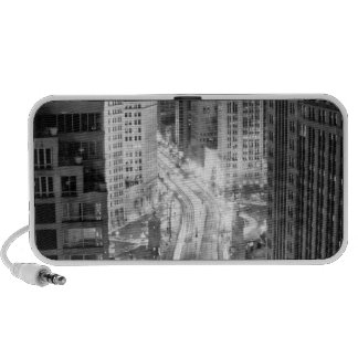 North Michigan Avenue in Chicago after winter Portable Speaker