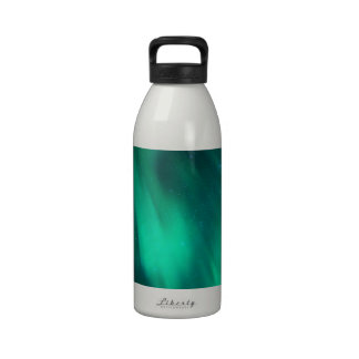 North moving Borealis picture green sky night Reusable Water Bottle